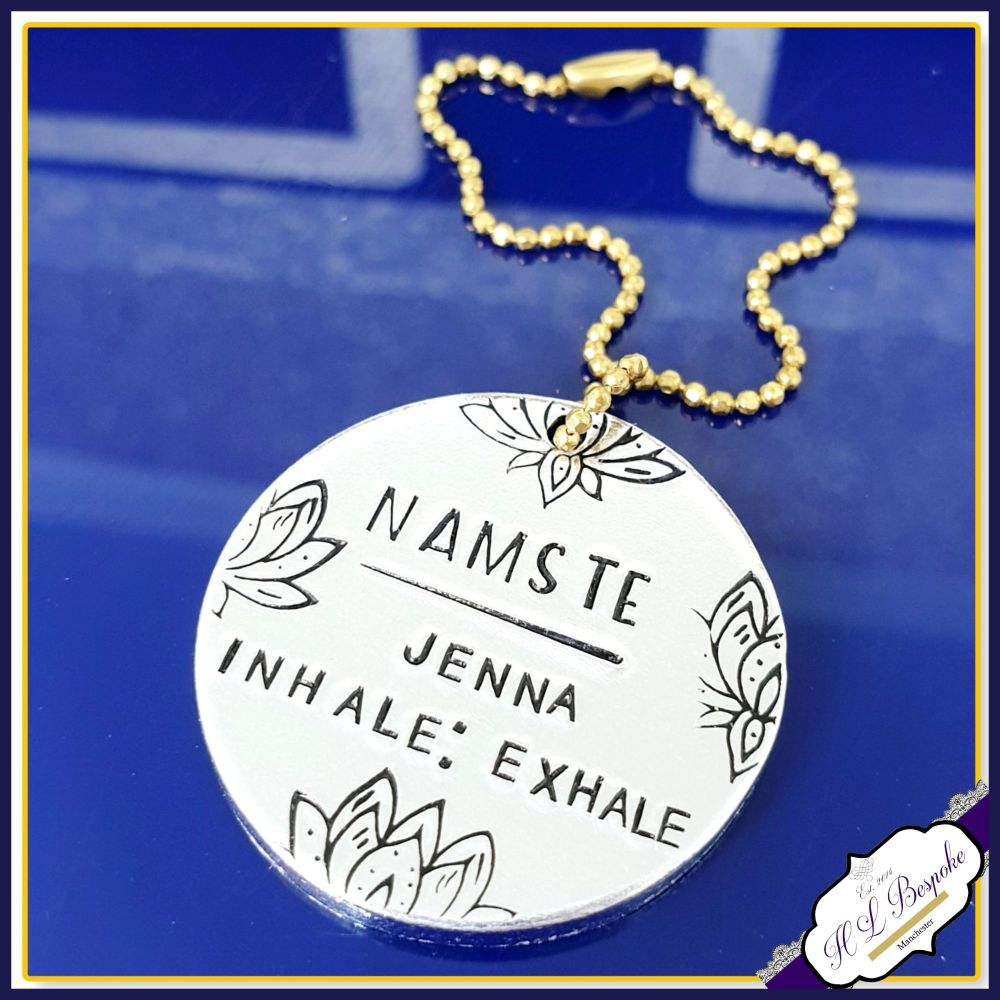 Personalised Planner Charm - Inhale Exhale Gift - Namaste Yoga Planner Char