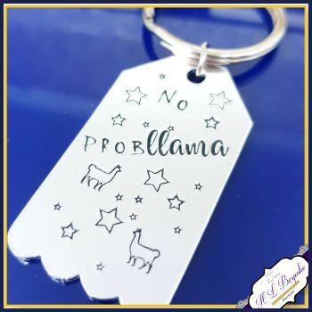 No Probllama Gift - No Prob Llama Keyring - Llama Gift - Llama Keyring - Llama Lover - Drama Lama Gift - No Problem Gift - No Problemo