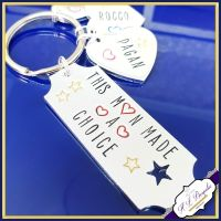 Personalised Stepdad Keyring - Step Father Keychain - Stepdad Gift - Step Father Gift - Step Father Keychain - Gifts For Step Dads - Stepdad