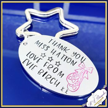 Personalised Dance Teacher Keyring - Gift for Dance Teacher - Ballet Dancer Gift - Thank You Dance Teacher Gift - Ballet Teacher Gift