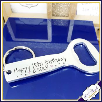 Personalised 18th Birthday Gift For Her - Beer Bottle Opener For Her - Happy 18th Birthday Gift For Her - Female Drinking Gift  - Beer