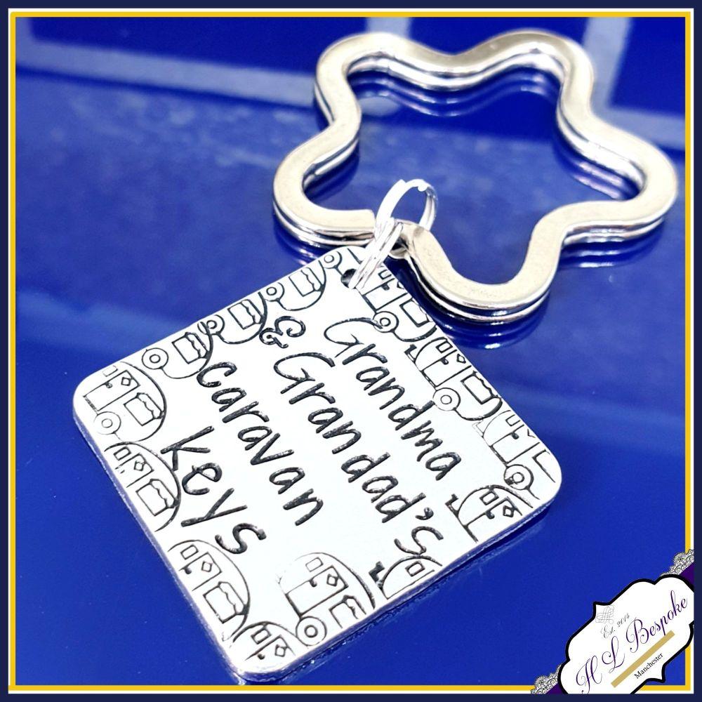 Personalised Caravan Keyring - Caravan Keys Keychain - Grandma's Caravan Ke