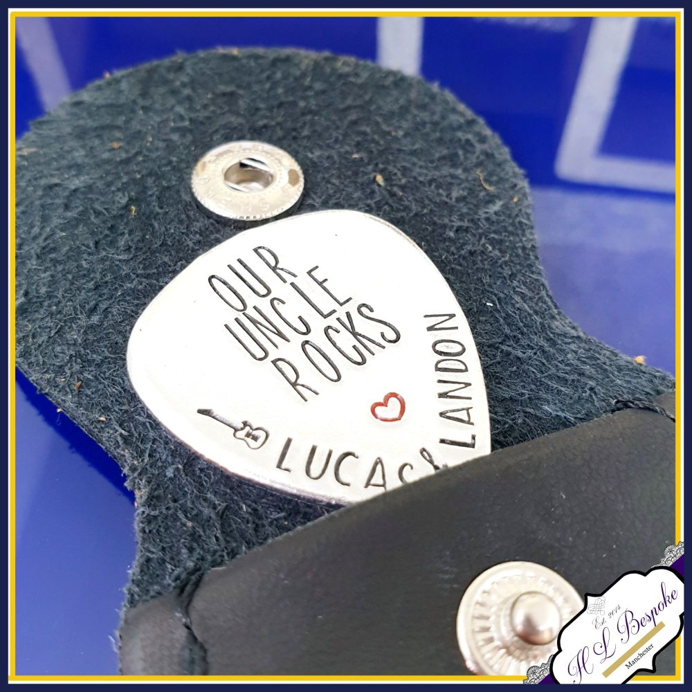 Uncle Guitar Pick - Godfather Gift - Our Uncle Rocks - You Rock Guitar Pick
