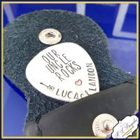 Uncle Guitar Pick - Godfather Gift - Our Uncle Rocks - You Rock Guitar Pick - You Rock Uncle - Gift For Uncle - Personalised Plectrum - Pick
