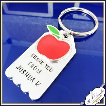 Personalised Teacher Apple Gift - Gift For Teaching Assistant Keyring - Thank You Teacher Gift - Teaching Assistant Apple Thank You Gift