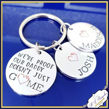 Personalised Funny Gamer Daddy Keyring - Gamer Father's Day Gift - Daddy Keyring For Father's Day - Proof Our Daddy Doesn't Just Game - Game
