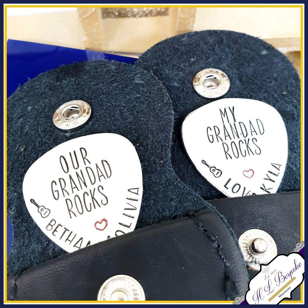 You Rock Guitar Pick - You Rock Grandad - Father's Day Gift - Godfather Gif