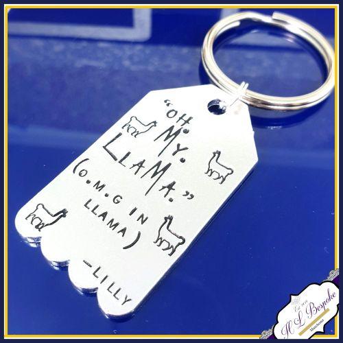 Oh My Llama Keychain - Oh My God Keyring - Llama Keychain - Llama Gift - Ll
