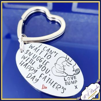 Fathers Day Keyring From The Bump Keyring - Daddy To Be Keyring - Daddy Gift From The Bump - Fathers Day Keyring - Gi