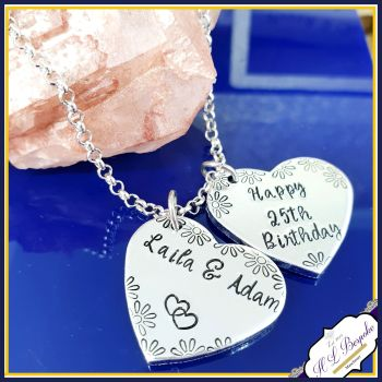 Personalised Anklet - Custom Anklet - Heart Anklet - YOU CHOOSE WORDING - Wedding Anklet - Mother's Day Jewellery - Personalised Jewellery