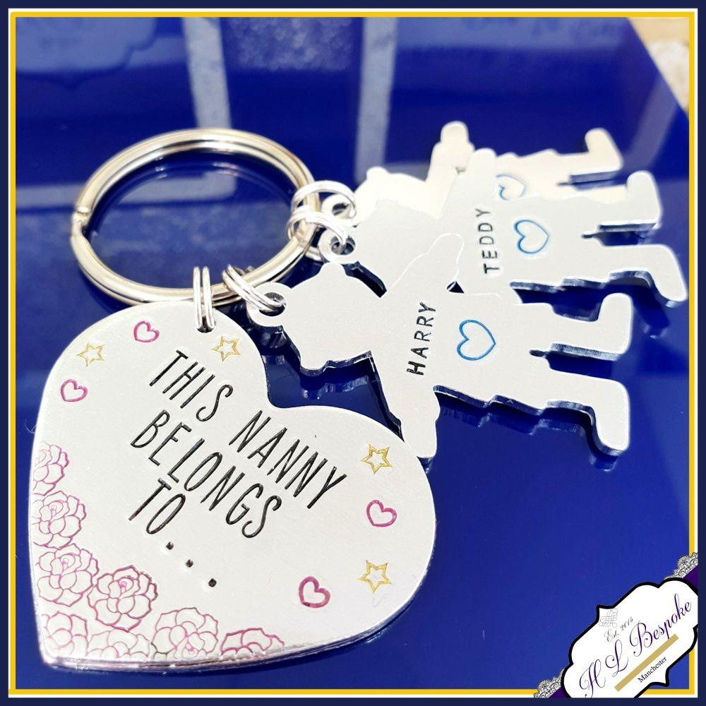 Nanny Keyring - Mothers Day Gift - Mummy Belongs To - Nanna Keychain - Gran