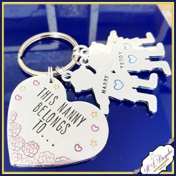 Nanny Keyring - Mothers Day Gift - Mummy Belongs To - Nanna Keychain - Grandma Gift - Family Tree Gift - Grandad Gift - New Grandma Gift