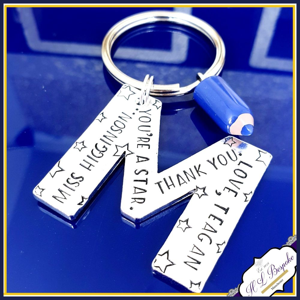 Personalised Star Teacher Gift - Personalised Keyring for Teacher - You're