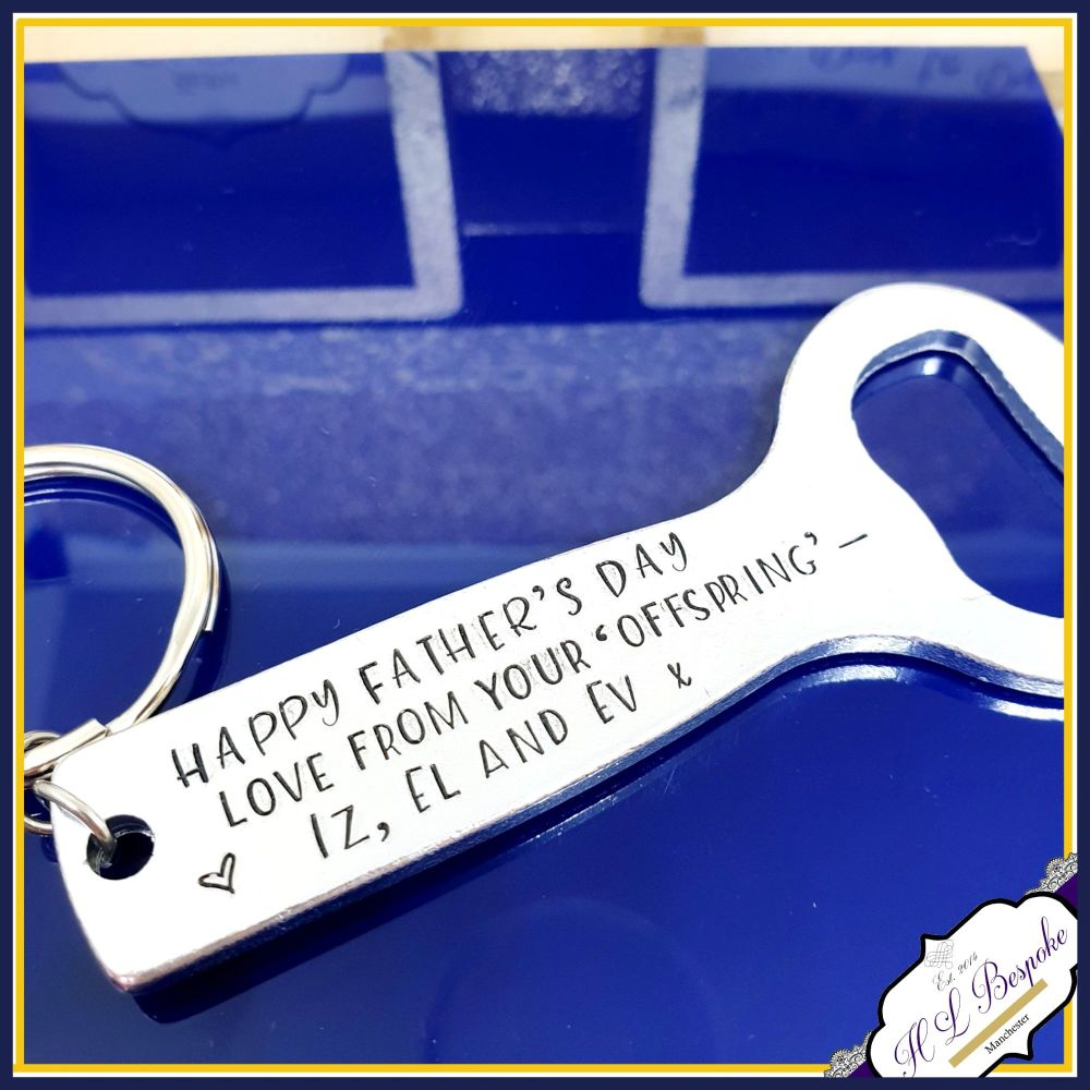Personalised Daddy Bottle Opener Father's Day - Dad Birthay Gift From Offsp