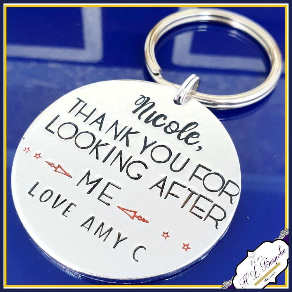 Personalised Teacher Keyring Gift - Gift For Teacher Who Made A Difference