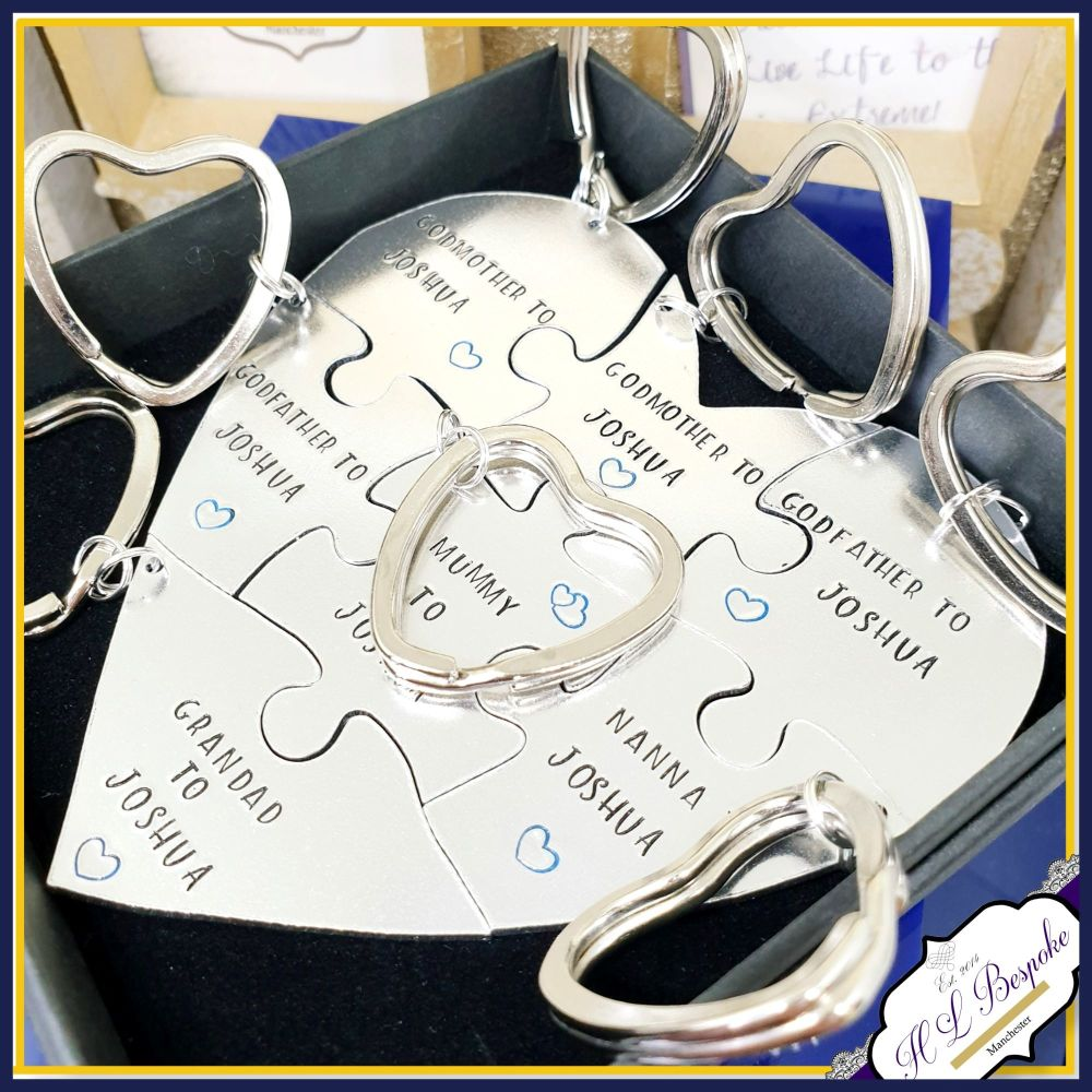 Personalised New Baby Gift For Family - 7 Piece Puzzle Godparent Gift - Mum