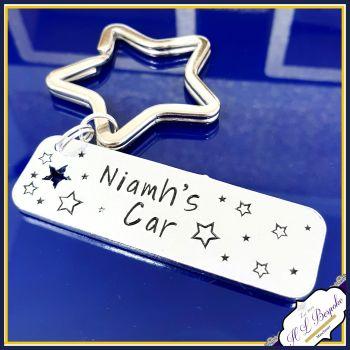 Personalised New Driver Keyring - New Driver Gift - Just Passed Keyring - Car Gift - Simple New Driver Gift - Name Car Keyring - First Car