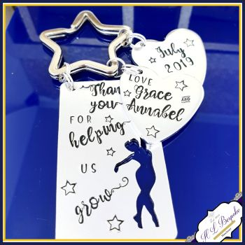 Personalised Dance Teacher Keyring - Thank You Dance Teacher Gift - Thank You For Helping Me Grow - Dance Teacher Gift - Dancing Gift