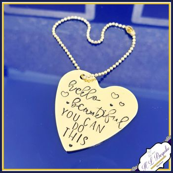 Personalised Planner Charm - Planner Charms - Planner Accessories - Gold Planner Charm - You Choose Wording - Heart Planner Charm - Round