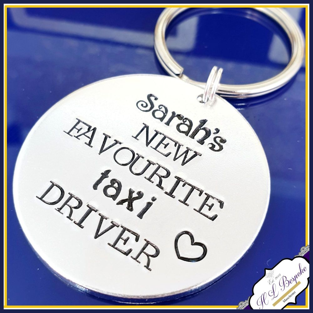 Taxi Driver Dad Keyring - Father's Day Keyring - Favourite Taxi Driver Keyr