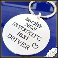 Taxi Driver Dad Keyring - Father's Day Keyring - Favourite Taxi Driver Keyring - Dads Taxi Gift - Taxi Dad Keyring - Funny Fathers Day