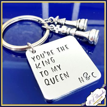 Gift For Chess Player - Couple Chess Gift - King To My Queen Gift - Valentine's Gift For Him - Valentine's Chess Gift - Birthday Chess Gift