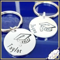 Personalised Graduate Gift - Graduation Keychain - ANY NAME Keyring - Simple Graduate - Well Done Graduate - Graducation Gift - Degree Gift