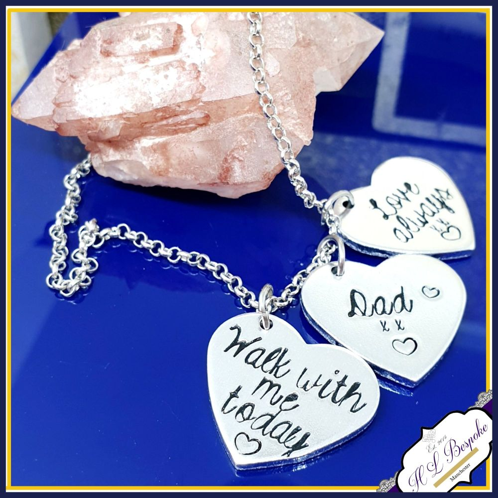 Personalised Memorial Anklet - Wedding Bouquet Charm - Wedding Day Anklet -