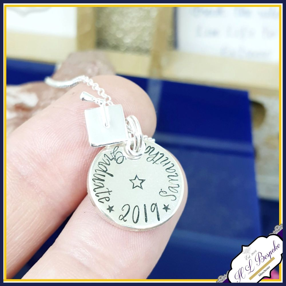 Personalised Graduation Necklace For Her - Graduation Jewellery Gift For He