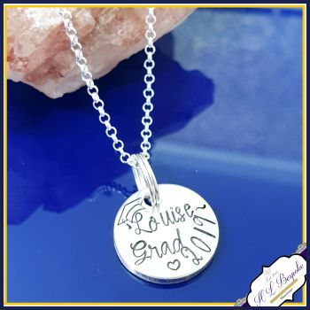 Personalised Dainty Graduation Pendant For Her - Graduation Jewellery Gift For Her - Congrats Gradute Gift - Proud Of You Graduate Gift