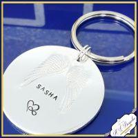 Pet Memorial Keychain - Pet Memorial Keyring - Pet Memorial Gift - In Memory Of Pet Gift - Angel Wing Keyring - Pet Loss Gift - Dog Memorial