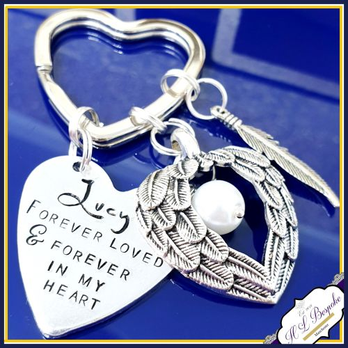 Pet Memorial Keychain - Pet Loss Gift - Forever Loved Gift - Forever In My