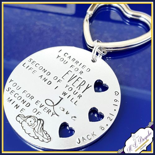Child Loss Keyring - I Carried You For Every Second Of Your Life & I Will L