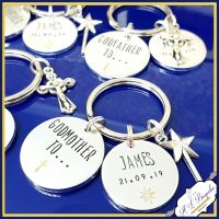 Personalised Godmother Gift - Godmother Keyring - Fairy Godmother - Fairy Godparent - Godparent Gift - Godmother To...