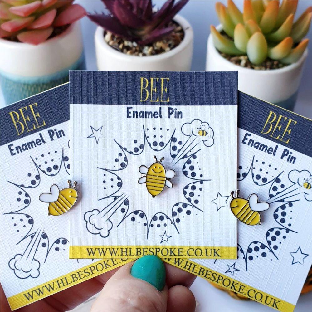 Cute Bee Enamel Pin - Bee Flair Lapel Pins UK