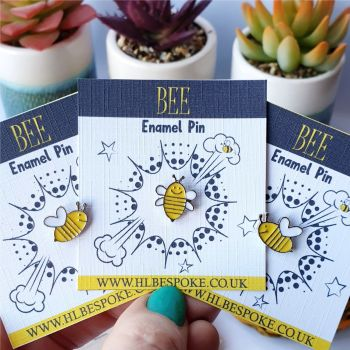 Cute Mini Bee Enamel Pin - Bee Flair Lapel Pins UK
