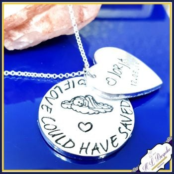 Personalised Angel baby Jewellery - Baby Loss Gift - If Love Could Have Save You - Baby Loss Necklace - Baby Memorial Jewellery - Angel Baby