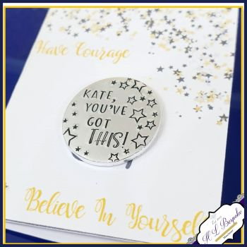 Personalised Courage Token Gift - You're Got This Card With Courage Token - Believe In Yourself Gift - Be Courageous