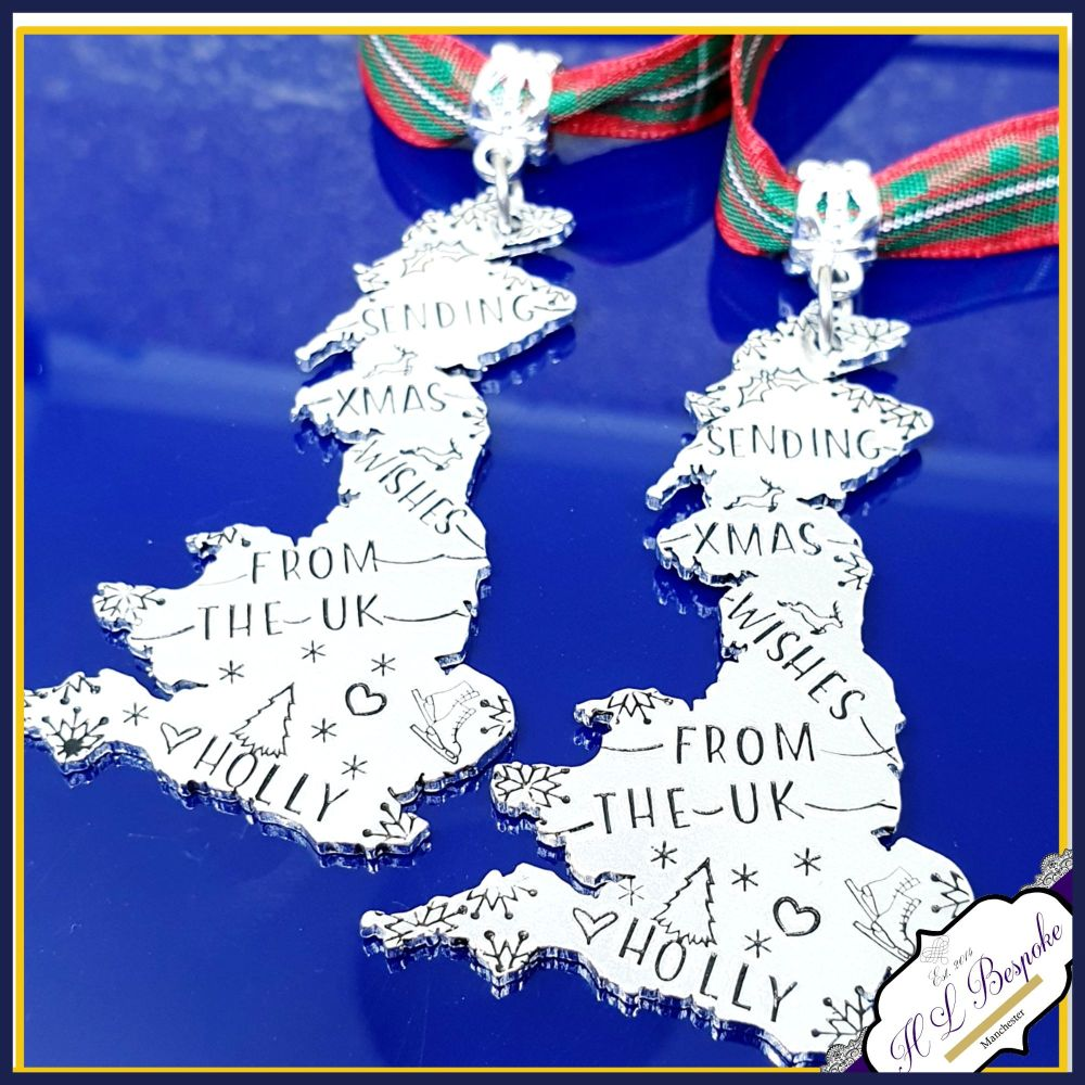 Personalised Christmas Decoration For Distant Family Friend - UK Christmas