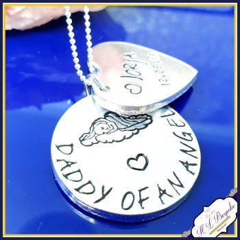 Personalised Daddy of an Angel Baby Necklace - Mummy of an Angel Necklace - Baby Loss Gift - Baby Loss Necklace - Baby Memorial Jewellery