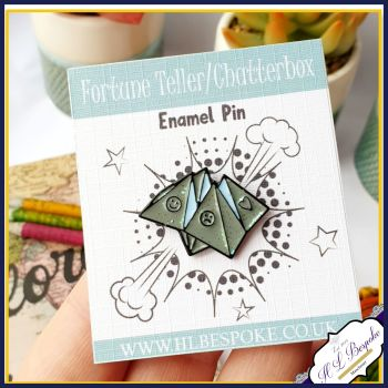 Fortune Teller Enamel Pin - Chatterbox Flair Lapel Pins UK