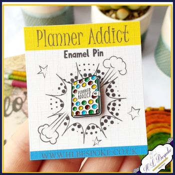Planner Addict Enamel Pin - Planner Flair Lapel Pins UK - Gift For Planner Addict