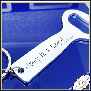 Personalised #legal 18th Birthday Gift - Personalised Bottle Opener - You Choose Wording - I Can Now Drink - Turning 18 Gift - Gifts for Son