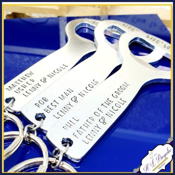 Personalised Best Man Gift - Personalised Wedding Bottle Opener - You Choose Wording - Usher Gifts - Father Of The Bride