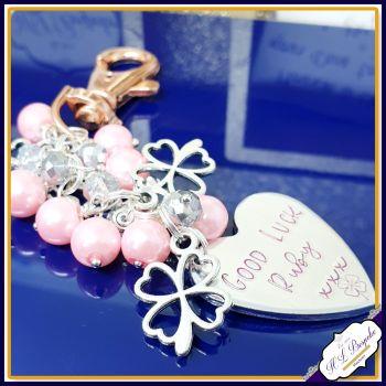 Personalised Bag Charm - Beaded Bag Charm - Personalised Beaded Keychain - Crystal Bag Chain - Handbag Charm - Good Luck Gift - Girly Gift