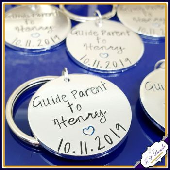 Personalised Guide Parent Gift - Guideparent keyrings - Gift For Guideparent - Christening Gifts For Godparents - None Religious Christening