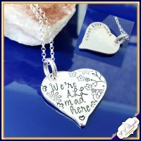 Personalised Alice In Wonderland Necklace - Jewellery Pendant We're All Mad Here Gift - Alice In Wonderand Jewellery - 21st Birthday Gift