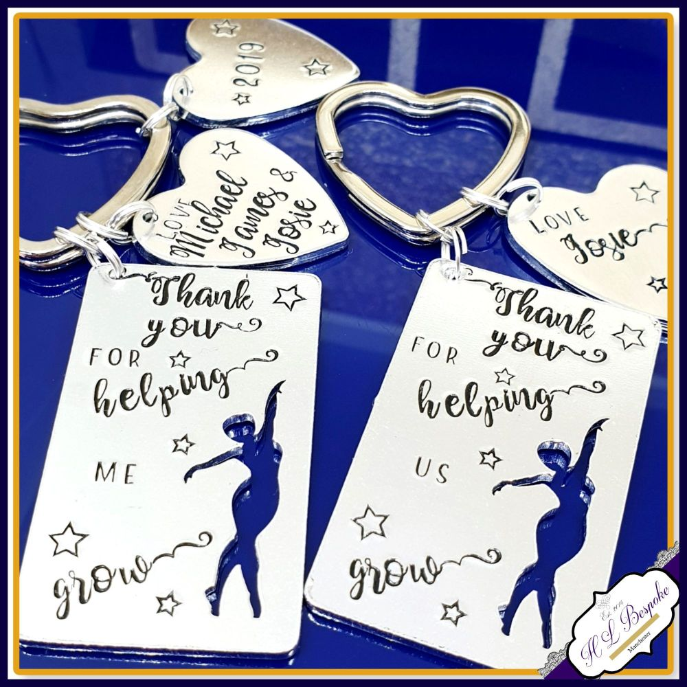 Personalised Dance Teacher Keyring - Thank You Dance Teacher Gift - Thank Y