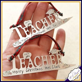 Personalised Teacher Christmas Gift - Tree Decoration For Teacher - Unique Teacher Gift - Christmas Teacher Gift - Special Teacher Gift