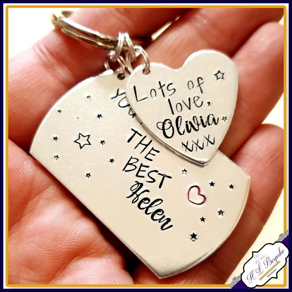 Personalised Childminder Gift - Teacher Keyring - Gift For Teaching Assista